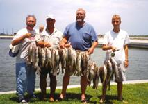 Doug Howerton Crew another 40 Trout limit from the Port O'Connor Surf.