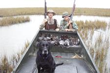 Kenneth Reese and son C.C. limits of ducks