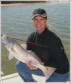 Texas saltwater fishing Guide Shellie Gray