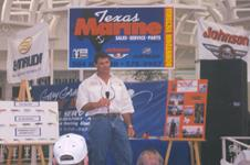 Capt. Gary at one of his seminars on trophy Trout fishing.